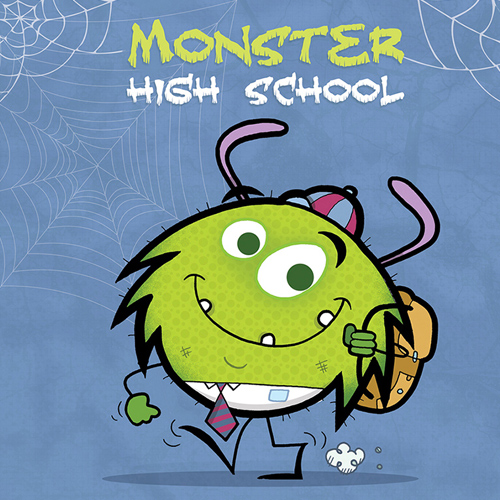 Monster High School Book Cover And Character Design